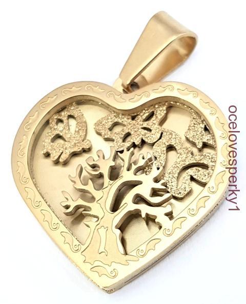70042df63 Prívesok Marta z chirurgickej ocele zlatá farba PR164 strom života