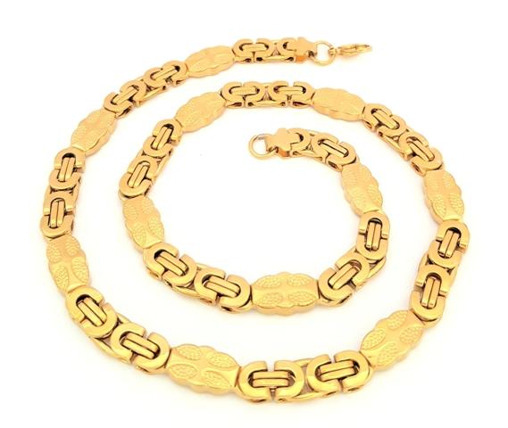 0396e59f3 Retiazka Marta z chirurgickej ocele kráľovská oval 9 mm zlata farba RTP 014  empty